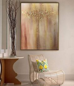 Abstract Painting Abstract Gold Painting Oil Painting Gold