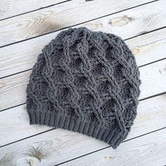 Ravelry: Chain Link Slouch pattern | Any textured stitch, like this chain link design, is a-ok with us!