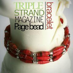 Cool paper bead bracelets
