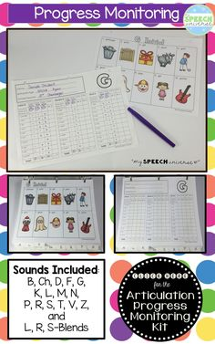 Articulation Progress Monitoring Kit.  This kit has everything you need to collect data on your articulation students.