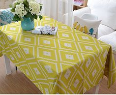 Hyun times Fashion Desktop Wallpapers Art Modern geometric simplicity thick cotton cloth table cover ( Size : 100145 )