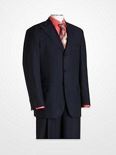 Magic Johnson Navy Stripe Suit