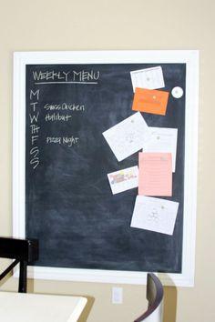 DIY framed magnetic chalkboard how-to