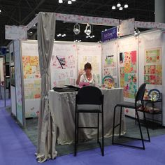 Surtex Stephanie Ryan- My booth at the 2012 Surtex Show! That's my friend Carol Maguire.