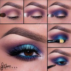 """Could this be any prettier? @elymarino does a fantastic job with bold colors Dynasty Palette Pictorial 1.Begin by applying """"Electra"""" slightly above the crease! Taking the color all the way to the inner corner of the eyes 2.Using """"Obsessed"""" shadow apply in the crease 3.Apply """"Aphrodite"""" slightly underneath the crease 4.Pat """"Cleopatra"""" to the entire lid staying underneath the darker blue 5.Blend """"Electra"""" underneath the lower lash line followed by """"Obsessed"""" shadow! Then using """"Aphrodite""""…"""
