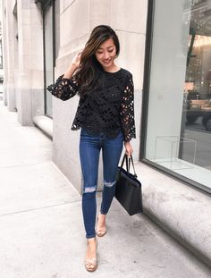 @EPStyle makes us look lovely in the Scalloped Eyelet Top.
