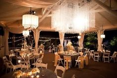 Get planning advice, view real weddings and stay up to date with the latest news from CJ's Off the Square, Nashville's most romantic garden wedding venue. Event Lighting, Unique Lighting, Wedding Lighting, Lighting Ideas, Outdoor Wedding Venues, Wedding Reception, Wedding Bells, Wedding Table, Square Chandelier