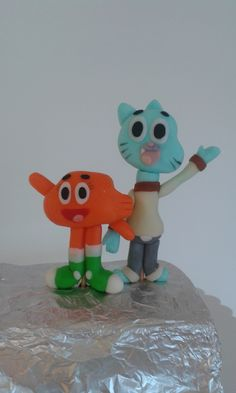 Gumball and Darwin cake topper