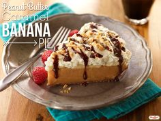 You don't have to choose between a pumpkin pie and the peanut butter caramel banana pie. Why not have both!