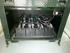 Battery bank tied to a solar panel install for backup power