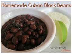 Cuban Black Beans Recipe that is incredible! Make a large batch and free half! Serve with rice and a drizzle of EVOO!