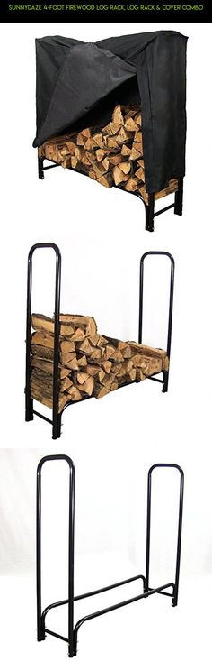 Sunnydaze 4-Foot Firewood Log Rack, Log Rack & Cover COMBO #bins #rack #technology #racing #kit #shopping #tech #gadgets #fpv #plans #parts #products #drone #storage #with #camera