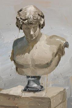 Jan De Vliegher, Antinous 2013, Oil on canvas