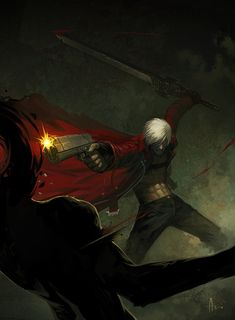 Dante from Devil May Cry... pretty much the epitome of a badass