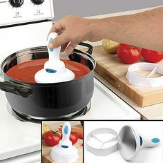 Fat Magnet. The cool new gadget easily removes fat that floats around on the surface of soups, sauces, gravies, stews, chili and more.