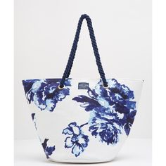 Women's Joules Summerbag Beach Bag ($23) ❤ liked on Polyvore featuring bags, handbags, oversized bag, oversized beach tote bags, summer handbags, nautical bag and beach tote bags