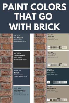 Exterior Paint Colors For House, Paint Colors For Home, Brick Paint Colors, House Exterior Color Schemes, Outside House Paint Colors, Brick House Colors, Exterior House Colors Combinations, Exterior Color Palette, Colors For Front Doors