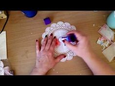 Decoupage refurbished table - Fast & Easy Tutorial - DIY - YouTube