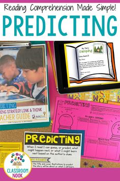 Teach making predictions while reading through LINKtivity digital learning guides! The perfect resource for distance learning or in-person learning. Students will love this interactive and hands-on approach to practicing reading skills. Also included is a teacher's guide, lesson plans, rubrics, differentiation options, and MORE! Compatible with Google Classroom with printable and digital materials. Teach making predictions with meaningful reading instruction today with LINKtivity! Reading Comprehension Strategies, Reading Fluency, Reading Activities, Reading Skills, New Vocabulary Words, Vocabulary Practice, Classroom Posters, Google Classroom, Reading Is Thinking