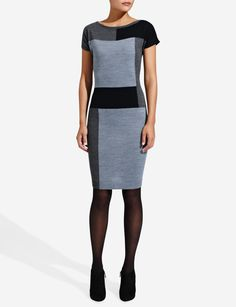 Colorblock Sweater Dress | Women's Dresses | THE LIMITED