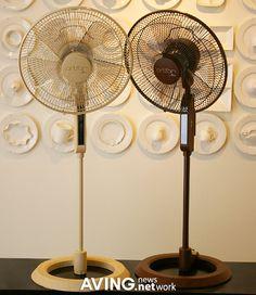 芸術的デザインの扇風機 'アートパン' AVING Japan
