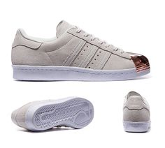 What is the color of the front?] http://www.adsuperstarsale.co.uk/adidas-originals-womens-superstar-80s-metal-toe-off-white-sneakers