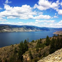 Okangan lake on the Kettle Valley Railroad near Penticton by NyxStudioArt Diy Art, Kettle, North America, Cities, Beautiful Places, River, Mountains, Artwork, Nature