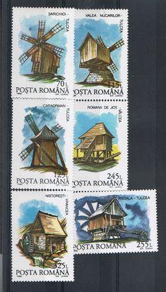 Romania 1994 Windmills Series of 6 stamps - Mint NH | eBay