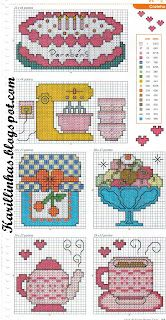 Cute cross stitch patterns.  Not in English, but good color pictures