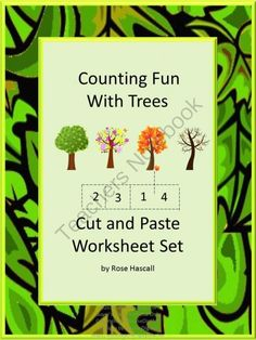 Counting Fun With Trees Cut and Paste Worksheet Set Autism, Pre-k, K, Special Education from smalltowngiggles on TeachersNotebook.com -  (15 pages)  - Strong counting skills will help students progress to a strong math foundation. Combine that with their love of cut and paste activities and they will have fun practicing their counting skills.