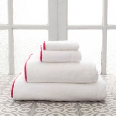 Pine Cone Hill Signature Banded Towel Red - PC667-BS