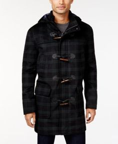 TOMMY HILFIGER Tommy Hilfiger Barry Slim-Fit Hooded Toggle Coat. #tommyhilfiger #cloth # coats