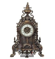 Antique Baroque Mechanical Table Clock 18th Century French