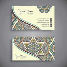name cards ethnic Business Card Maker, Unique Business Cards, Business Card Logo, Business Card Design, Vintage Business Cards, Visiting Card Design, Name Card Design, Bussiness Card, Photography Business Cards