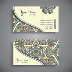 name cards ethnic Business Card Maker, Art Business Cards, Vintage Business Cards, Visiting Card Design, Name Card Design, Bussiness Card, Photography Business Cards, Ethnic Patterns, Name Cards