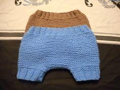 tuto tricot pantalon court bébé - YouTube