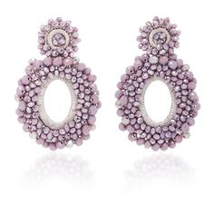 Bibi Marini *M'O Exclusive* Beaded Drop Earrings ($325) ❤ liked on Polyvore featuring jewelry, earrings, purple, beaded earrings, purple drop earrings, bead jewellery, beading jewelry and beaded jewelry