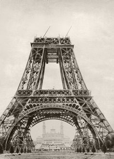 The Eiffel Tower under construction Art Print by Anonymous at King & McGaw