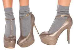 I flippin' love shoes with socks LIKE this! {I have tried it a few times myself}
