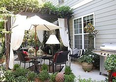 The Uptown Acorn: Friday Flashback..... My Front & Rear Porch at Wisteria Hill