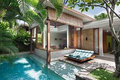 Terrasse et piscine d'hôtel Bali