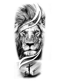 Lion Tattoo Design, Tattoo Designs, Guru Tegh Bahadur, Black And Grey, Gray, Animal Tattoos, Lion Sculpture, Floral, Geometric Lion Tattoo