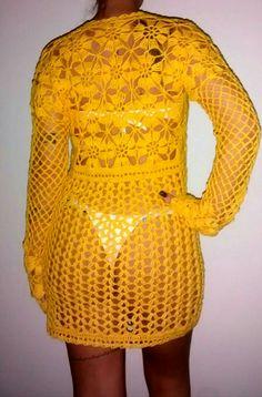 Yarn Needle, Sandro, Crochet Clothes, Dress Me Up, Crochet Bikini, Beachwear, Crochet Patterns, Cover Up, Knitting