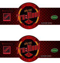 Label True Blood by ~loralaiy on deviantART: Just glue to bottle