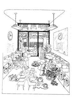 Quino - La aventura de comer (The Adventure of Eating, 2007) Adult Coloring, Coloring Pages, Humor Grafico, Teaching Spanish, Vignettes, Diagram, Cool Stuff, Illustration, Funny