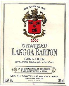 Château LANGOA BARTON - Saint Julien - Troisième Cru Classé