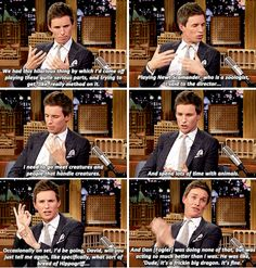 Eddie Redmayne on 'The Tonight Show Starring Jimmy Fallon' on November 9, 2016.