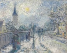 Jacob Abraham Camille Pissarro (1830-1903) -  All Saints' Church, Upper Norwood, 1871