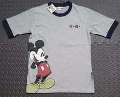 Vintage Disney T Shirt Men s sz L Mickey Mouse Ringer 1928 NOS Slim Fit 6f597232d