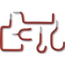 """STANLEY HARDWARE 81-9305 STORAGE HOOK ASSORTMENTS by Stanley. $8.50. """"VALUE PACK"""" STORAGE HOOK ASSORTMENTS  Zinc plated with vinyl coating Two each 8330 overhead storage hook, 8331 ladder storage hook, 8332 tool storage hook, 8333 utility storage hook and 8334 all-purpose storage hook included 10 Piece-screw-in Carded"""